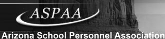 ASPAA - Arizona School Personnel Association
